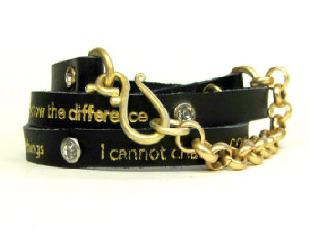 inspirational leather bracelets